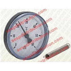 Thermomètre d'applique sur tube 0°C à 60°C