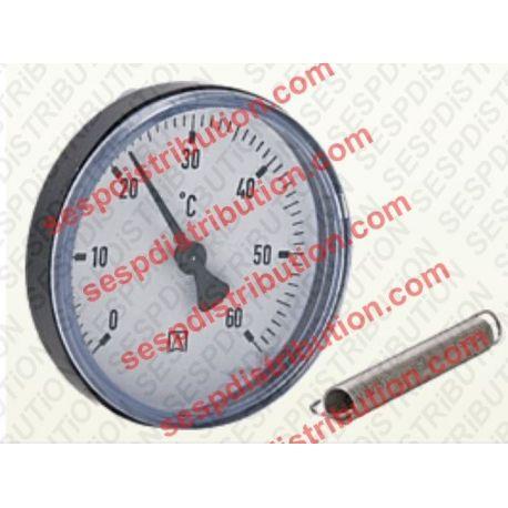 Thermomètre rond de chaudière