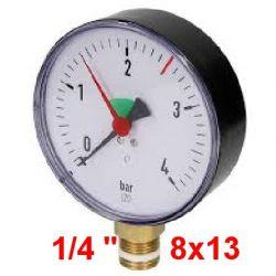 "Manomètre AFRISO 0/4 Bars Diametre 63 mm Mâle 1/4"" 8x13"