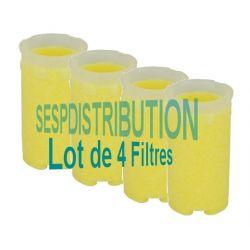 Lot 4 filtres fioul SIKU rond lisse 50-75 µm longueur 72 mm