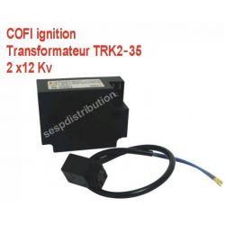 transformateur TRK2-35 2x12 Kv avec cable COFI ignition pour bruleur fioul