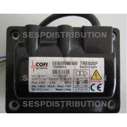 COFI TRE 820 P 1x 8 KV transformateur allumage chaudière fioul ignition burner