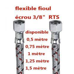 "flexible droit pour alimentation fioul avec raccord FF 3/8"" RTS"
