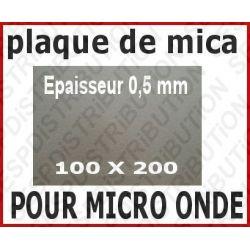 Plaque de mica 100x200