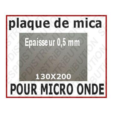 Plaque de mica pour micro-onde 130x200