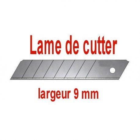 lot de 10 lames de cutter 9 / 18 / 25 mm