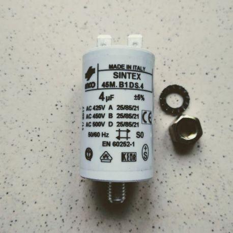 condensateur 4 µF 450 volts pour chaudière fioul