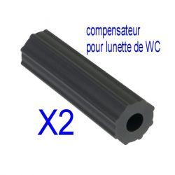 Compensateur fixation lunette abattant WC X2