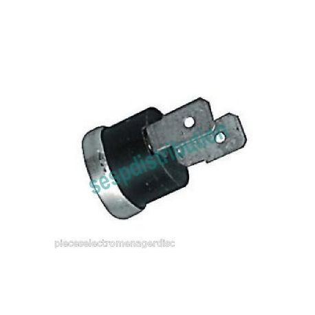 Thermostat klixon NC 60°C diamètre 16 mm sécurité thermique WHIRLPOOL