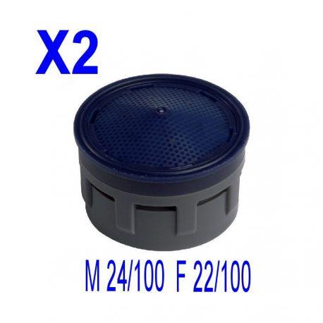 2 Aérateurs insert mousseur de robinet M 24X100 F 22X100