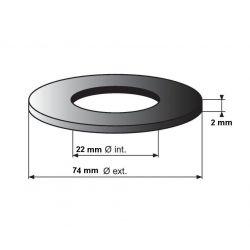joint WC idéal standard 74x22x2 mm pour mécanisme WC