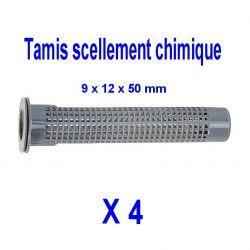 tamis d'injection pour scellement chimique pour tige Ø 8 mm