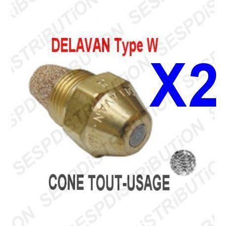 2X gicleur fioul fuel 0,60 0,60° W marque DELAVAN chaudière fioul