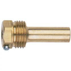Doigt de gant laiton pour sonde 82 mm Ø10 Lg total 100 mm thermostat chauffage