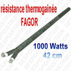 Résistance FAGOR thermogainée 1000 watts 42cm