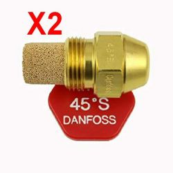 2X gicleur fioul fuel 45° 0,60 S marque DANFOSS chaudière fioul
