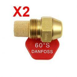 2X gicleur Danfoss 60° 0,60 S marque DANFOSS chaudière fioul
