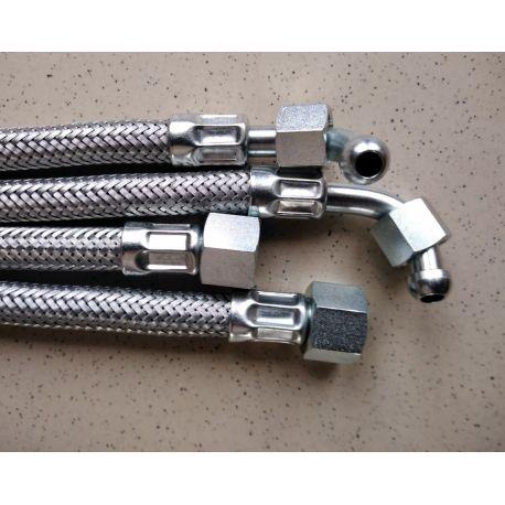 2 flexibles fioul droit / coudé 2 flexibles et 6 raccords