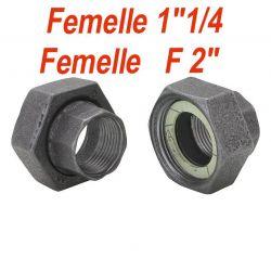 "raccord pour circulateur F1"" 1/4 F 2"" lot de 2"