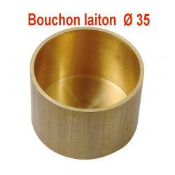 Bouchon gaz en laiton fin de colonne en laiton Ø35 mm tube cuivre Ø 35