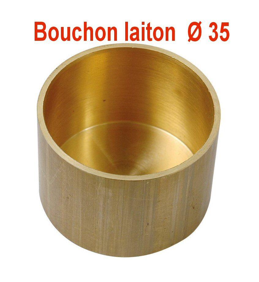 Bouchon Gaz En Laiton Fin De Colonne En Laiton ø35 Mm Tube Cuivre ø 35 Sespdistribution