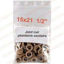 """joint cuir 15x21 1/2"""" pochette de 5 joints plomberie sanitaire arrosage"""