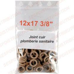 """joint cuir 12x17 3/8"""" pochette de 10 joints plomberie sanitaire arrosage"""