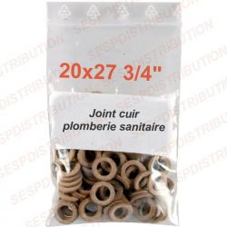"""joint cuir 20x27 3/4"""" pochette de 10 joints plomberie sanitaire arrosage"""