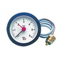 manomètre de chaudière 0/6 bars Ø 57 mm capillaire 1500 mm