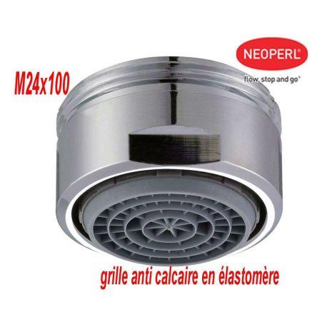 aérateur mousseur M 24x100 NEOPERL Cascade SLC grille anti-calcaire