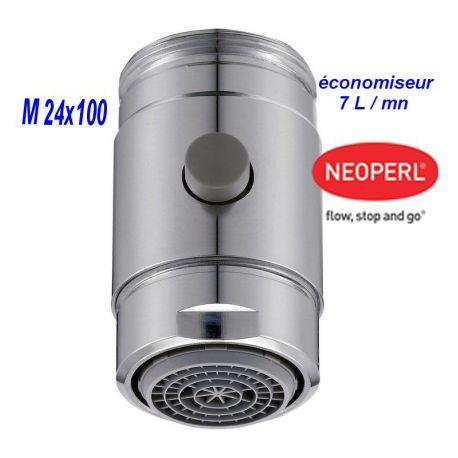 aérateur mousseur M24x100 économiseur 7 l/mn écobooster de NEOPERL
