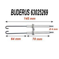 Electrode d'allumage BUDERUS 63025269 SIEGER flamme bleu BE/ BE-A