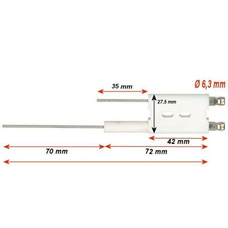 Electrode ABIG convient pour Abig Nova 2000 gaz