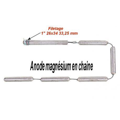 "Anode magnésium en chaîne filetage 1"" 26x34 33,25 mm"