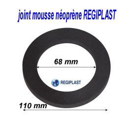 joint 110/68/15 mm en mousse néoprene REGIPLAST 335226 joint sanitaire