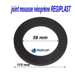 joint 110/58/15 mm en mousse néoprene REGIPLAST 335226 joint sanitaire