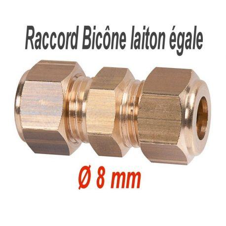 raccord bicône laiton égale raccord américain de Ø 8 mm à Ø 22 mm
