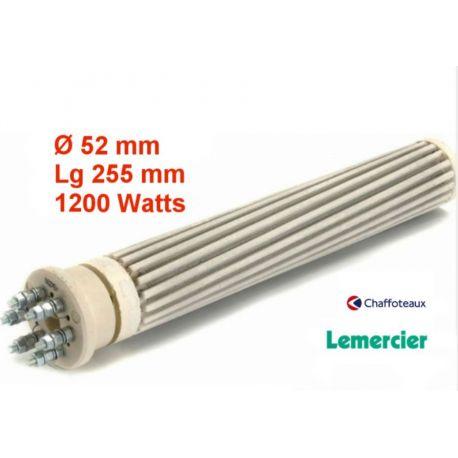 résistance stéatite 1200 watts Ø 52 mm Lg 255 mm REST1252