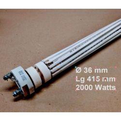 résistance stéatite 2000 watts Ø 36 mm Lg 415 mm RESM2036