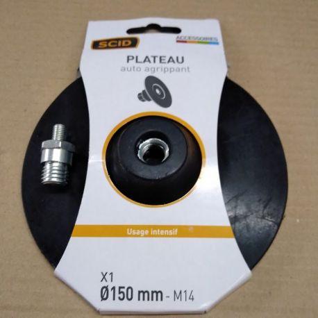 plateau 044753 auto agrippant Ø 150 mm filetage femelle M14 ponçage lustrage