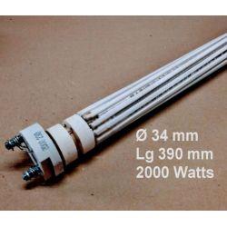 résistance stéatite 2000 watts Ø 32 34 mm Lg 390 mm RESM2032