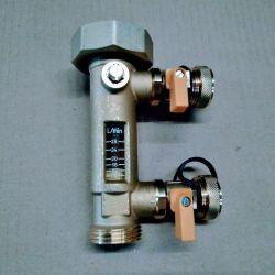 """débitmètre de 8 à 28 Litres M 1"""" F 1""""1/2 avec remplissage"""