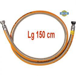 Flexible de gaz inox 1,5 ML durée illimitée Butane propane