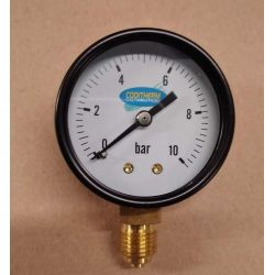 "manomètre 0/10 bars Ø 50 mm filetage M 1/4"" 8x13 plomberie sanitaire chauffage"