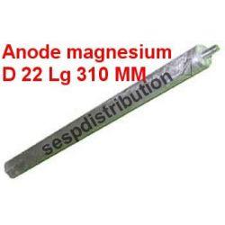 Anode magnésium Ø 22 X 310 mm M10X150 Fagor