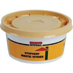 Mastic de vitrier SOUDAL naturel brun à base d'huile de lin 500 gr