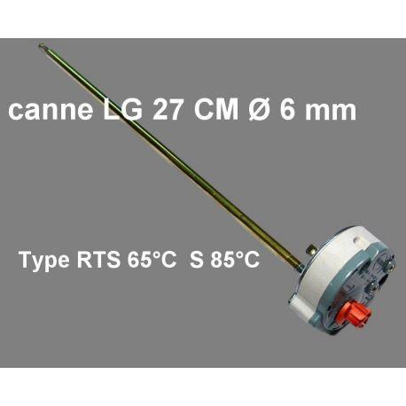 thermostat de chauffe eau type RTS 409512 Lg 270 mm Ø 6 mm