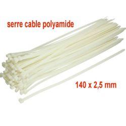 serre câble polyamide 140 x 2,5 mm vendu par lot