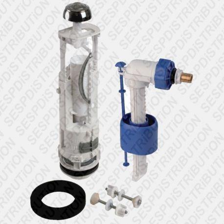 Mécanisme de WC économique 3/6 Litres et robinet flotteur SIAMP