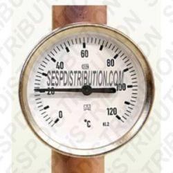 Thermomètre d'applique sur tube 0°C à 120°C